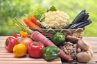 basket, carrot, cauliflower, congregation, cucumber, eggplant, front or back yard, green bell pepper, group of objects, horizontal, lemon, onion, people, photography, raw potato, shiitake mushroom, shimeji mushroom, tomato, vegetable Nutrition Wellness and lifestyle Lifestyle changes