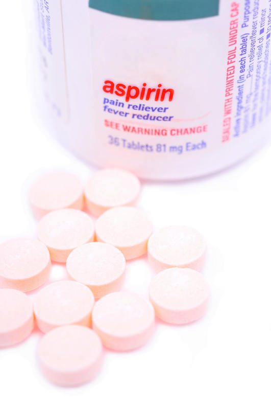 Can you take one tablet of Bayer aspirin around bed time and also take 50mg trazodone?