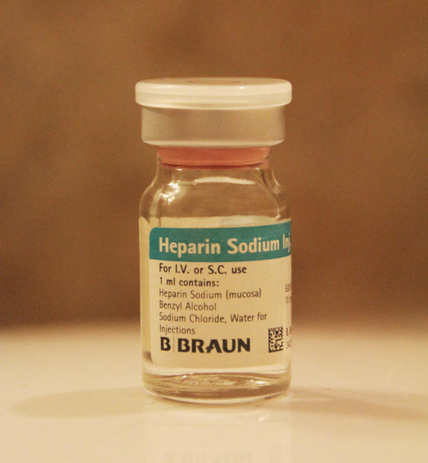The appropriate concentration and volume of heparin bolus for intravenous injection ?