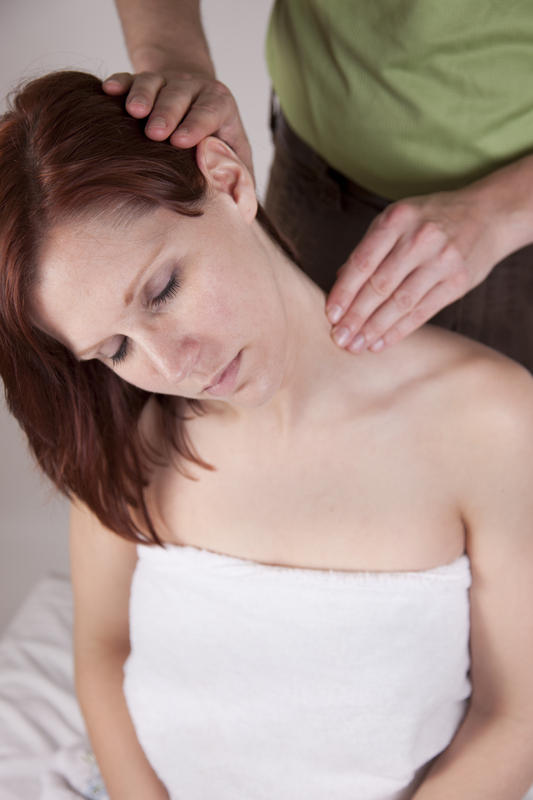 What causes a burning sensation in your arms, neck, and upper back?