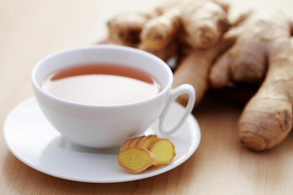 How could ginger helps to cure gastritis because its spicy?