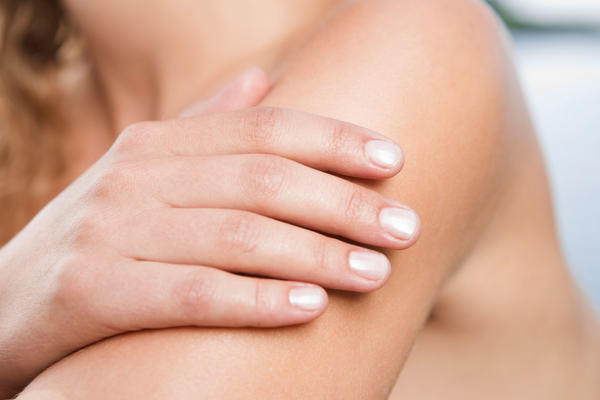 What causes the skin on your arms to be sensitive to touch?
