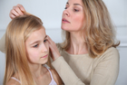 10-year-old, blond, brushing, caucasian, child, childhood, girl, hair, head, health, infection, insect, kid, lice, long, mom, mother, nits, parent, prevention, treatment Lice