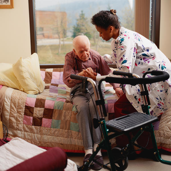 Is stationary or wheeled walker better for a senior?