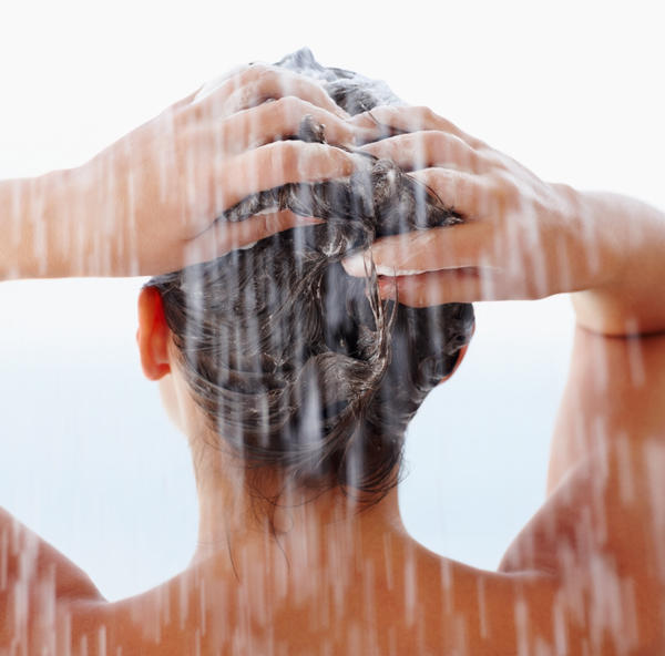 How do I pick the dry scabs off my scalp?