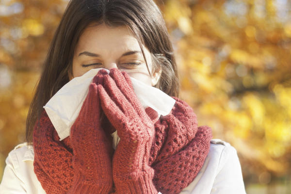 Is nausea from chest congestion a symptom of the flu?