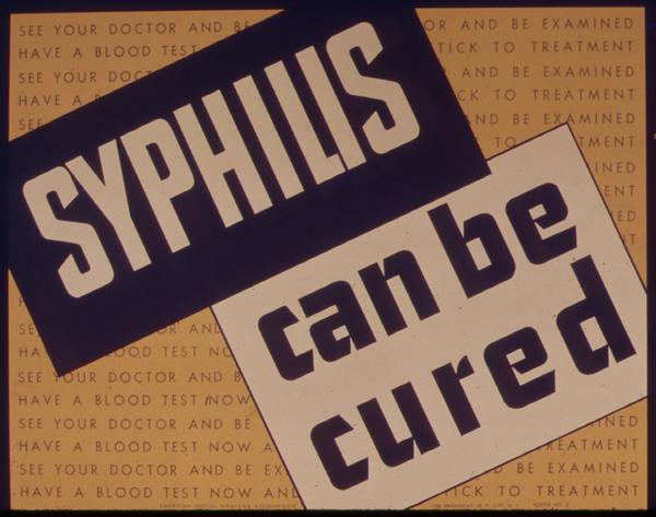 How does a clinic do a syphilis test?