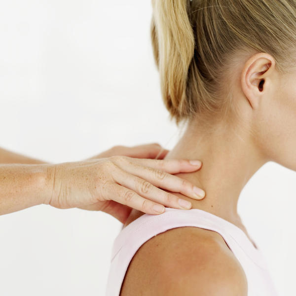 How to relieve tension in neck and throughout back without massage? Any tips for at home consistent therapy or exercises?