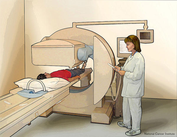 Will a bone scan light up an area where an bone tumor was removed years before or does it mean the tumor has possibly returned?