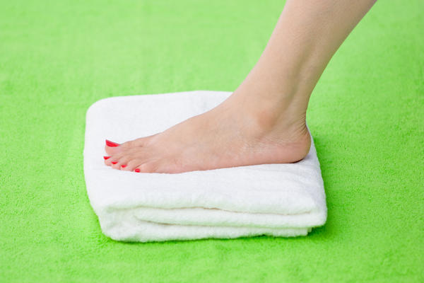 What can cause pooling of blood in are feet (pedal edema)?