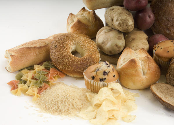 What are some ypical carbohydrate foods that should be avoided in a healthy diet in order to lose weight?