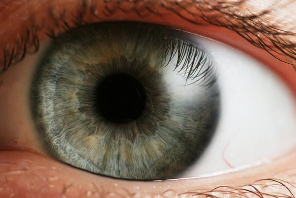 What happens if your pupils are dilated past your contact lenses?