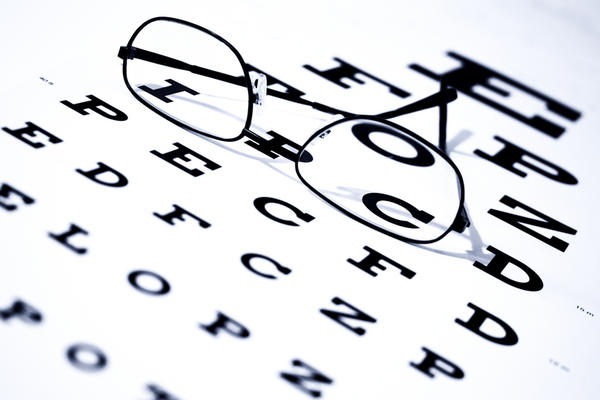 What power lens would be required to correct the myopia of someone who can only see the topmost row of a snellen chart?