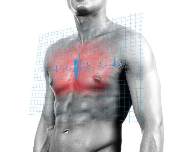 How do you treat chest pain and left arm numbness?
