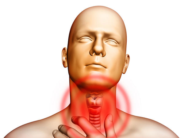 I have sore throat. have pain when touching on throat. mabye thyroid gland. no fever or other symptom. can it be HIV symptom or other?