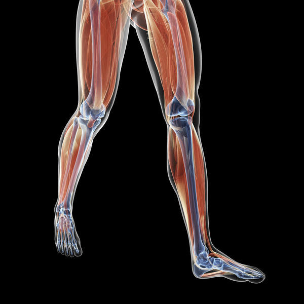 How do you help get rid of muscle cramps in a calf muscle?
