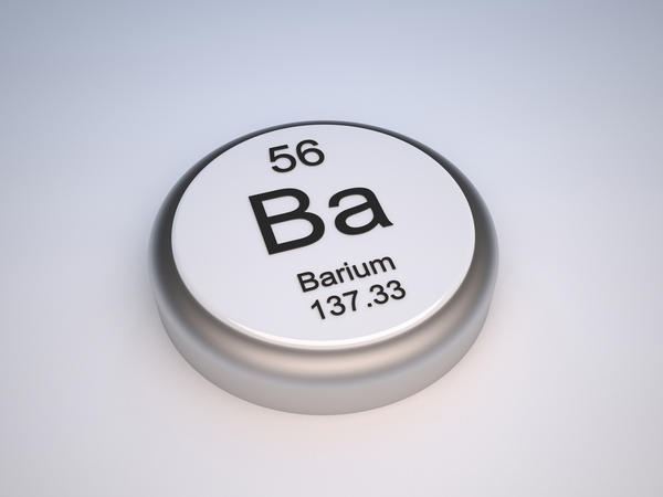 Why is it safe for patients to drink barium sulfate even though barium ions are toxic?