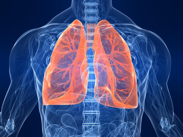 How can nicotine gum affect a non-smokers lungs?