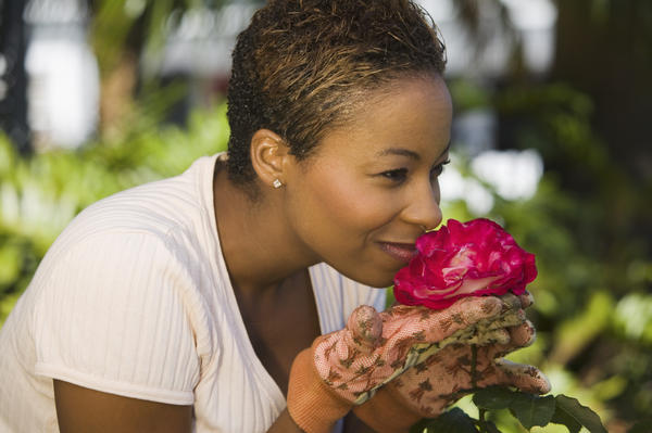 What causes sensitivity to smells in older person?