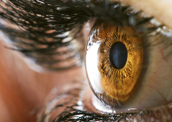 What is the vision of a typical human eye?