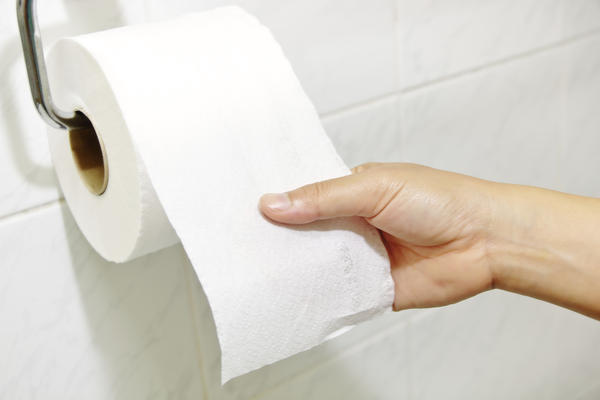 My period is 8 days late, and I can see light pink blood on my toilet paper but not in the toilet, could I be pregnant or do I have UTI?