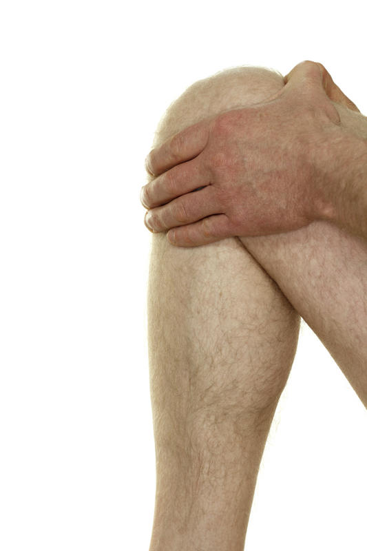 What can cause knee swelling for years?