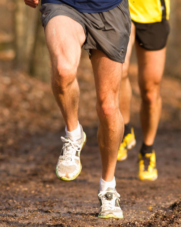 What could cause leg aching, cramping, and twitchy?