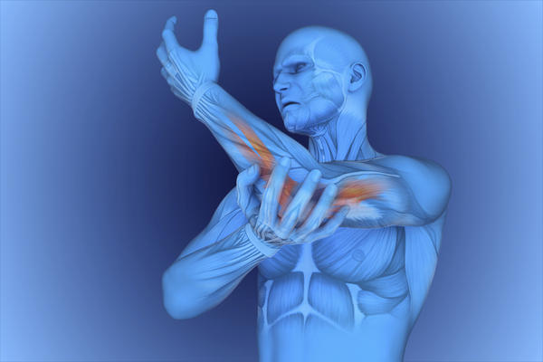 What causes severe pain of right inside upper arm?