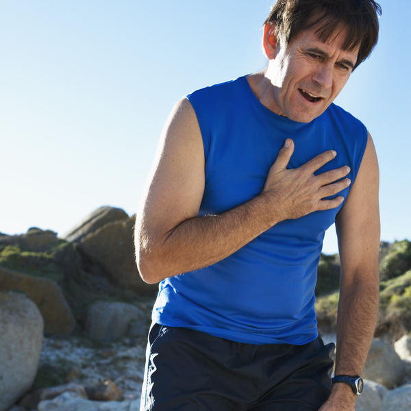 What does atypical chest pain mean?