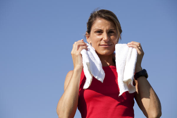 Can athletes overcome a small problem like excessive sweating?