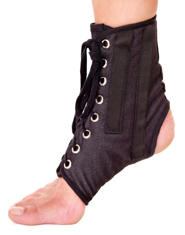 Will a sprained ankle require you to wear a leg boot or a cast?