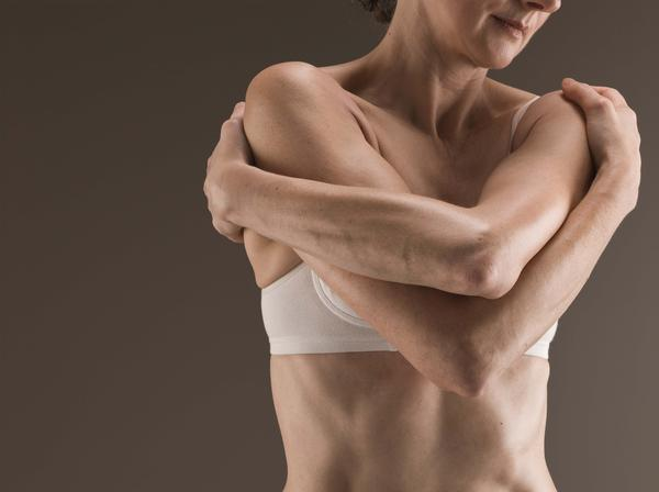 What could cause pain above breast (by shoulder)?