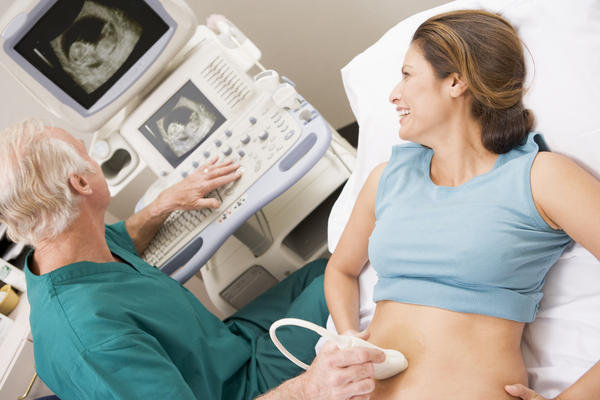 What does free fluid mean on pelvic ultrasound?