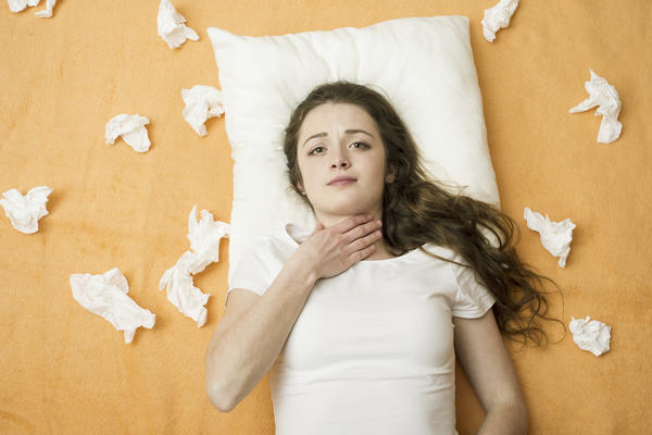 What causes a rash and cough after a flu?