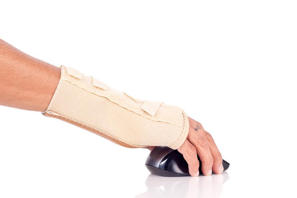 How many days is it necessary to wear a splint for a hand sprain?