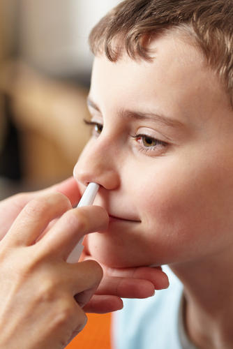 Is it safe to use non-medicated saline nasal spray every day on a 4-year-old?