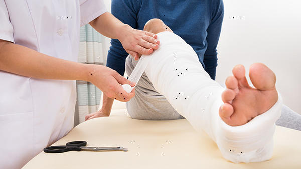 What is the hospital treatment for a hairline fracture in your knee?