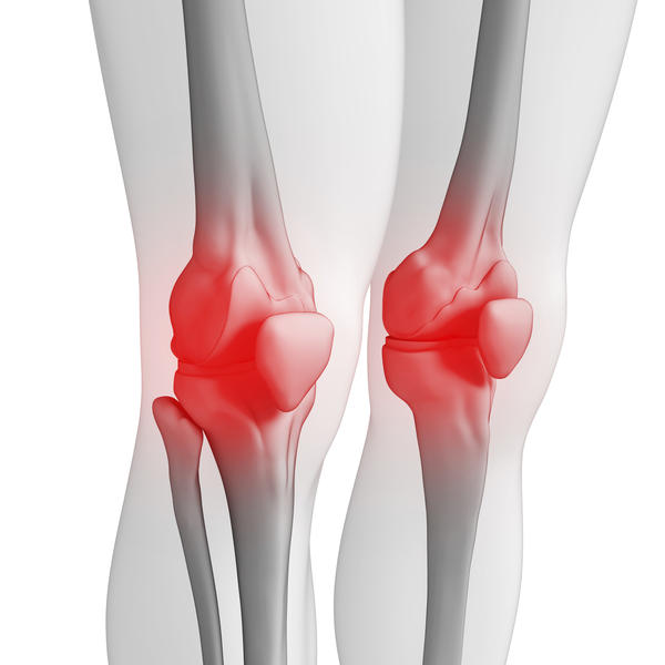 What causes pressure on the knee cap?