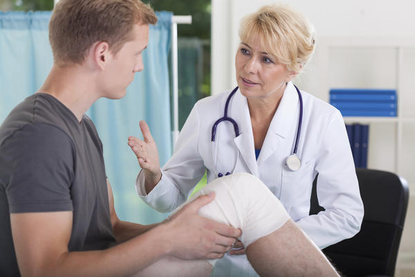 What should I expect in physical therapy for a torn ligament in the knee?