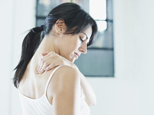 What would cause tingling, a shaky feeling in the upper body, as well as neck and back pain?