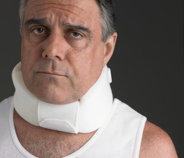 What should I do for facial numbness after a neck injury?