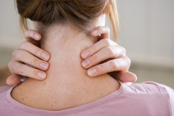 What causes a long term swollen lymph gland on right side of neck?