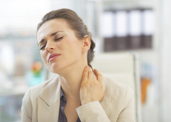 I have had a lump on my neck for a couple of months now. For the past week it has been giving me sharp pains in my neck.  My lymph glands also swollen?