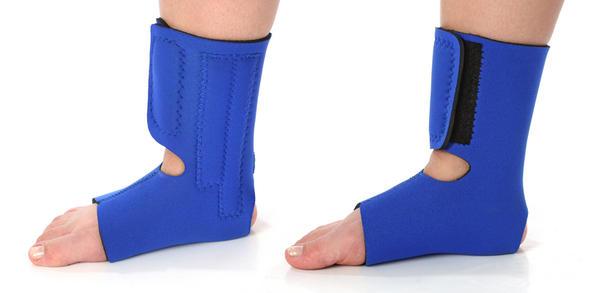 Been in cam walker for 4 wks. 5 broken met bones, foot turns purple when hanging in shower. Why is that?