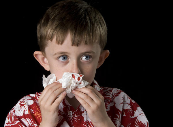 My son gets bloody noses very bad. Recently he has told me when he gets a bloody nose, it heart hurts. Should i be concerned?