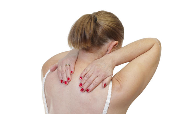 The top of my shoulder hurts when I reach my arm behind my back (from the bottom, overhead is fine). The weight of my arm hanging down is sore too.