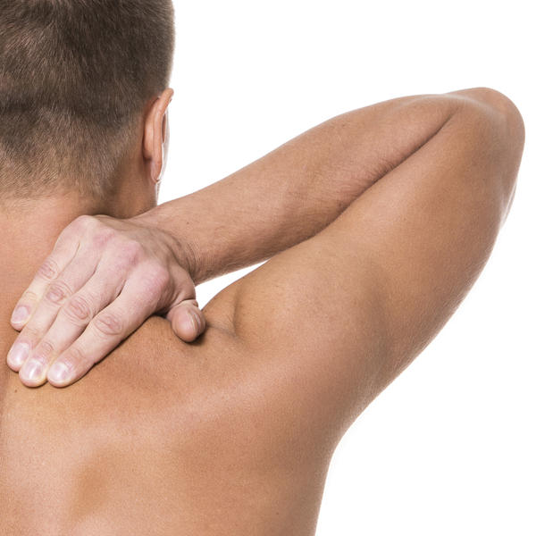 Severe upper back R shoulder blade area pain. Didn't injure it. Arthritis?
