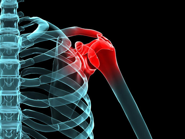 How can i tell the difference between bone and muscle if i put my left hand on right shoulder I'm not able to push down it hurts bad in upper arm
