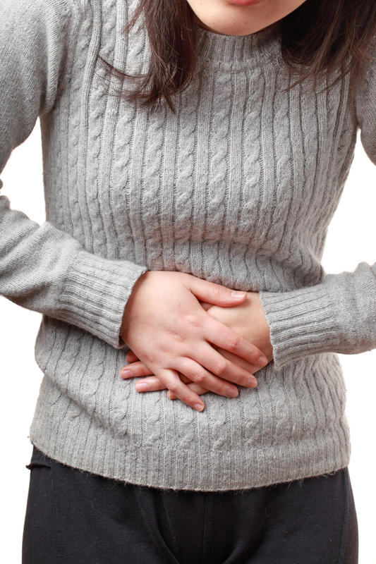 How is the nerve burnt for abdominal pain? What steps does it take?