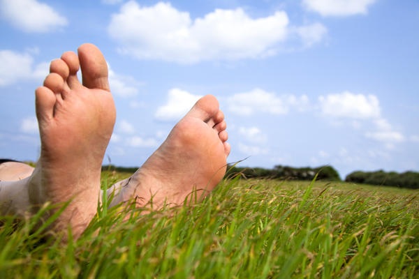 How do you cure a foot pain from going barefoot?